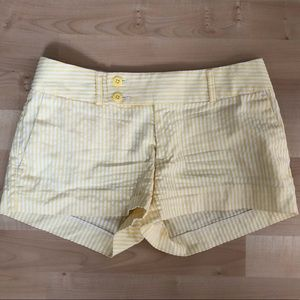 Yellow & white stripe shorts